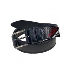 На фото 1 - Мужской ремень из чёрной натуральной кожи