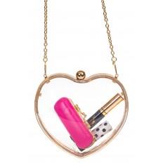 На фото 2 - Сумочка-коробочка в форме сердца, цвет золото