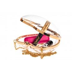 На фото 4 - Сумочка-коробочка в форме сердца, цвет золото
