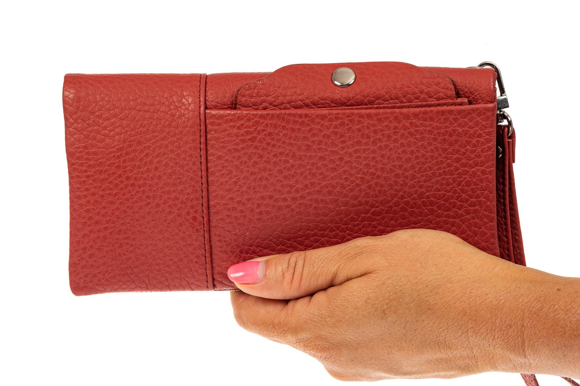 На фото 3 - Женский кошелек из натуральной итальянской кожи, цвет рыже-красный