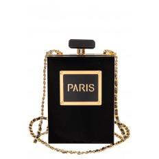 На фото 2 - Сумочка-коробочка из пластика, цвет черный