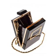 На фото 4 - Сумочка-коробочка из пластика, цвет черный