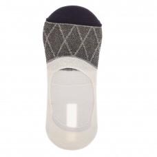 На фото 1 - Следки женские с силиконовым задником, цвет черный с белым