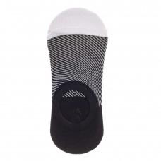 На фото 1 - Следки женские с силиконовым задником, цвет черно-белый