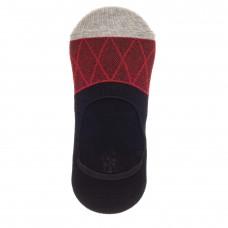 На фото 1 - Следки женские с силиконовым задником, цвет черный с красным