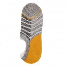 На фото 1 - Следки женские с силиконовым задником, цвет серый с желтым