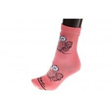 На фото 1 - Женские носки с принтом трендового персонажа, цвет розовый