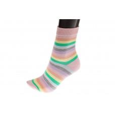 На фото 1 - Женские носки с принтом радуга, основной цвет розовый