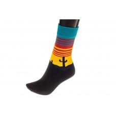 На фото 1 - Женские носки с принтом Мексика, основной ц...