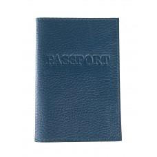 На фото 1 - Обложка на паспорт из натуральной кожи, цвет зеленый