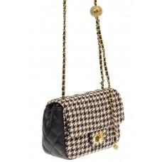 На фото 1 - Маленькая сумка кросс-боди из искусственной кожи и текстиля, мультицвет
