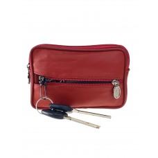 На фото 1 - Кошелёк-ключница из мягкой экокожи, цвет кирпично-красный