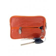 На фото 1 - Кошелёк-ключница из мягкой экокожи, цвет оранжевый
