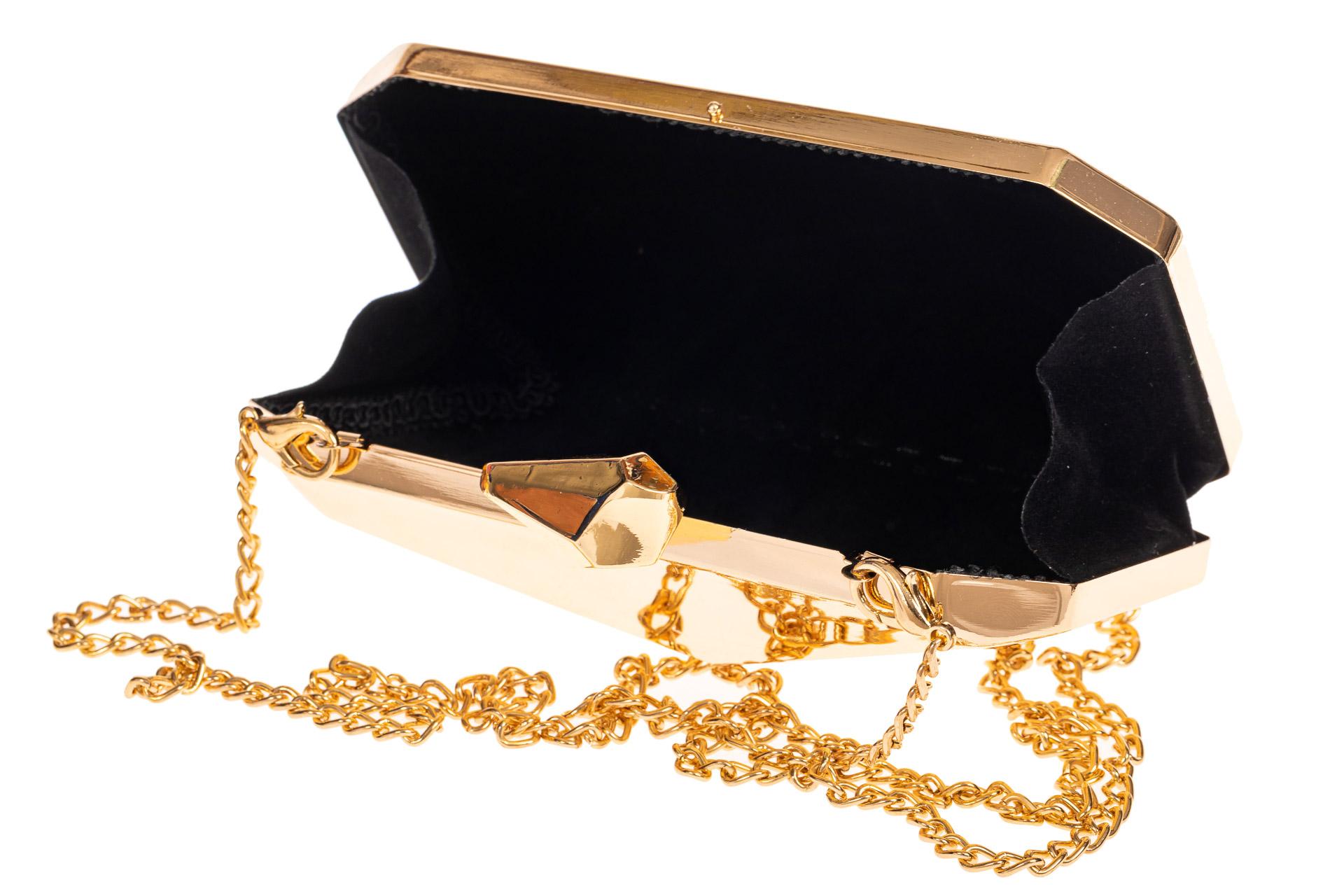 На фото 4 - Оригинальная вечерняя сумочка,  цвет золото