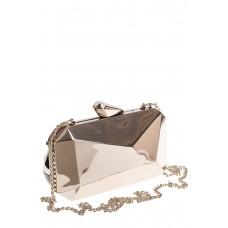 На фото 1 - Оригинальная вечерняя сумочка,  цвет серебро