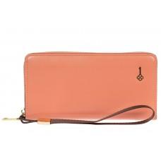 На фото 1 - Полноразмерный женский кошелек из искусственной кожи, цвет розовый