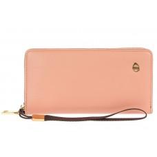 На фото 1 - Полноразмерный женский кошелек из искусственной кожи, цвет светло-розовый