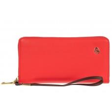 На фото 1 - Полноразмерный женский кошелек из искусственной кожи, цвет красный