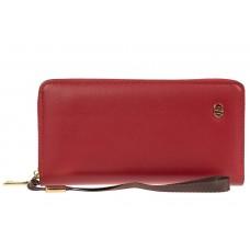 На фото 1 - Полноразмерный женский кошелек из искусственной кожи, цвет бордовый
