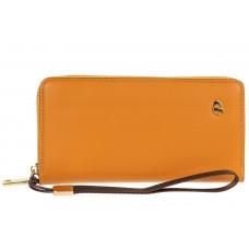 На фото 1 - Полноразмерный женский кошелек из искусственной кожи, цвет желтый