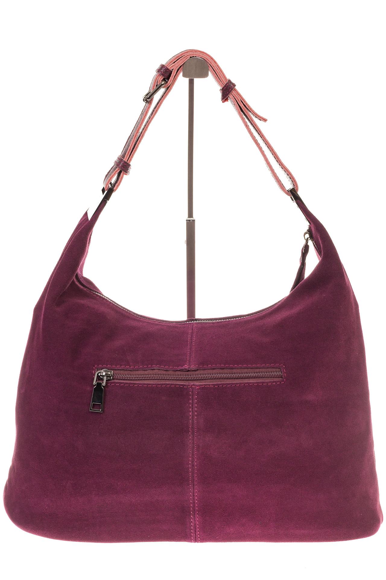 На фото 3 - Женская сумка Хобо из замши бордового цвета