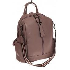 На фото 1 - Женский городской рюкзак из кожи, цвет сире...
