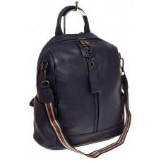 На фото 1 - Женский городской рюкзак из кожи, цвет сини...