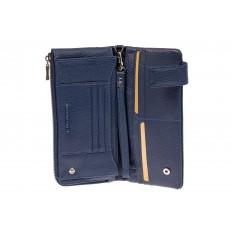 На фото 2 - Женский полноразмерный кошелек из натуральной кожи, цвет синий