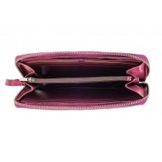 На фото 2 - Кожаный кошелек из натуральной кожи, розовый
