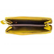 На фото 2 - Кожаный кошелек, желтый