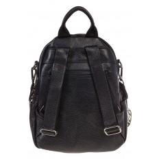 На фото 3 - Женский кожаный рюкзак, цвет черный 15833AR