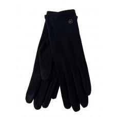 На фото 1 - Велюровые демисезонные перчатки, цвет чёрный