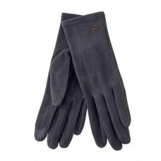 На фото 1 - Велюровые демисезонные перчатки, цвет серый