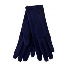 На фото 1 - Велюровые демисезонные перчатки, цвет тёмно-синий