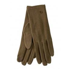 На фото 1 - Велюровые демисезонные перчатки, цвет рыжий
