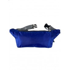 На фото 1 - Спортивная тканевая сумка на пояс, цвет синий