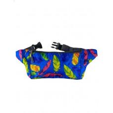 На фото 1 - Спортивная тканевая сумка на пояс, цвет ярко-синий