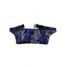 На фото 1 - Спортивная тканевая сумка на пояс с камуфляжным принтом, мультицвет