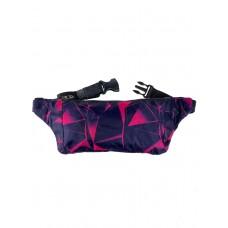 На фото 1 - Спортивная поясная сумка из текстиля с принтом, цвет тёмно-фиолетовый