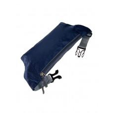 На фото 1 - Спортивная тканевая сумка на пояс, цвет тёмно-синий