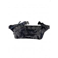 На фото 1 - Спортивная тканевая сумка на пояс с камуфляжным принтом, цвет хаки