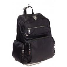 На фото городской рюкзак для женщин, цвет – черный, материал – текстиль, купить оптом в магазине Грета