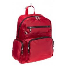 На фото городской рюкзак для женщин, цвет – красный, материал – текстиль, купить оптом в магазине Грета