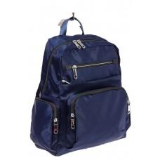 На фото городской рюкзак для женщин, цвет – синий, материал – текстиль, купить оптом в магазине Грета