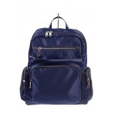 На фото 2 - Городской рюкзак из текстиля, цвет – синий