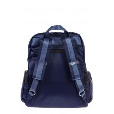 На фото 3 - Городской рюкзак из текстиля, цвет – синий