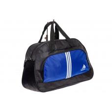 На фото 1 - Дорожная сумка из ткани, цвет синий