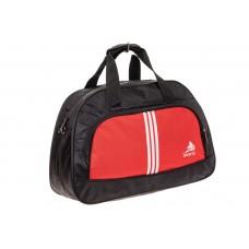 На фото 1 - Спортивная сумка из текстиля, цвет красный