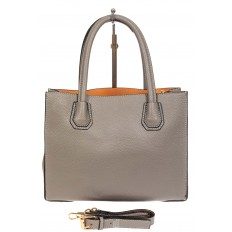 На фото 3 - Женская сумка из искусственной кожи, серая