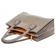 На фото 4 - Женская сумка из искусственной кожи, серая